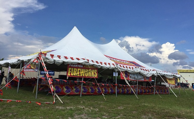 photo of a phantom fireworks tent